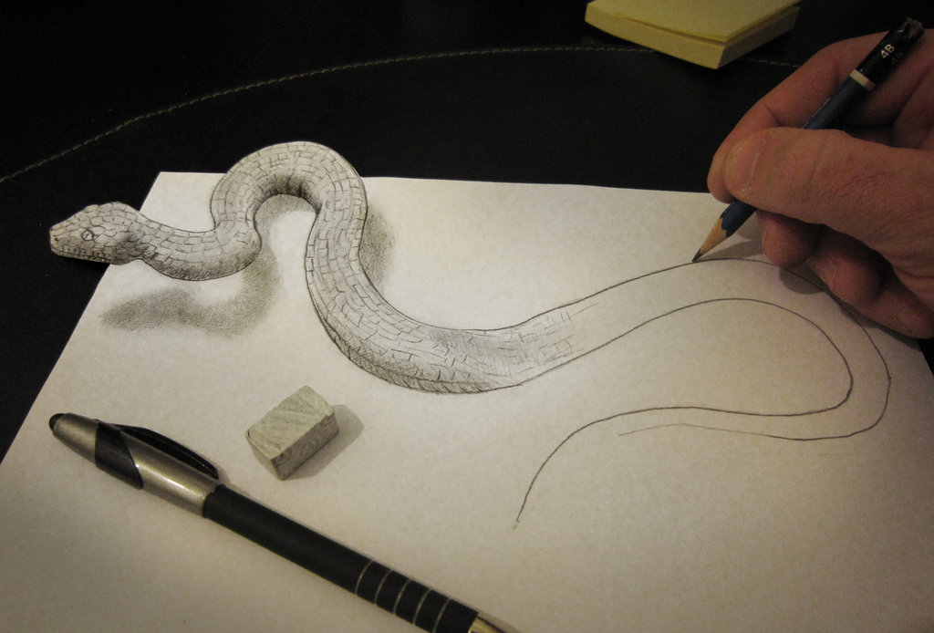 anamorphic_snake_by_alessandrodd-d5yho0g