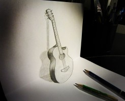 guitar_anamorphosis_by_alessandrodd-d5wz7id
